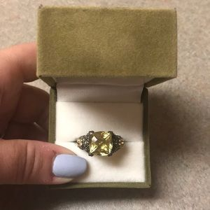 Barbara Bixby Lemon Citrine Ring 18K Gold